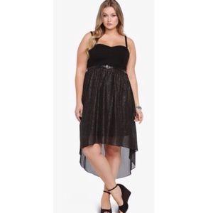 Torrid Black & Gold sparkles dress!